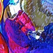 Glass Abstract 609 Art Print