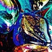 Glass Abstract 687 Art Print