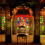 Glass And Mirror Room City Palace Udaipur Art Print