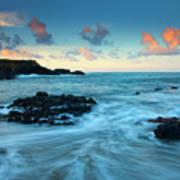 Glass Beach Dawn Print by Mike  Dawson