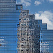 Glass Building Reflections Art Print