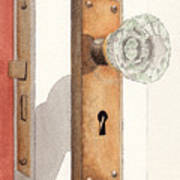 Glass Door Knob And Passage Lock Revisited Art Print