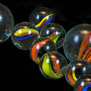 Glass Marbles Art Print