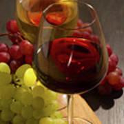 Red And White Wine Art Print