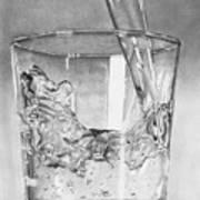 Glass Of Water Art Print