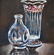 Glass Vases-still Life Art Print