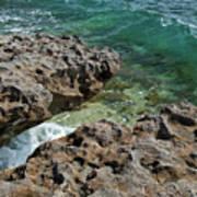 Glass Wave Blowing Rocks Preserve Jupiter Island Florida Art Print
