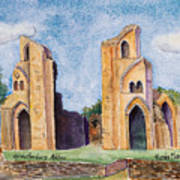 Glastonbury Abbey Art Print
