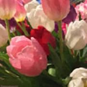 Glazed Tulip Bouquet Art Print