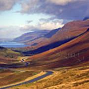 Glen Docharty And Loch Maree Art Print