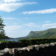 Glencar Lake With View Of Benbulben Ireland Art Print