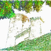Glimpse Of The Castle Walls And Towers Art Print