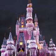 Glittering Cinderella Castle Art Print