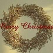 Glittery Wreath Art Print