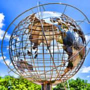 Globe At Columbus Circle Art Print