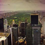 Gloomy Central Park Art Print