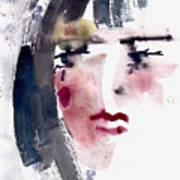 Gloomy Woman  Art Print