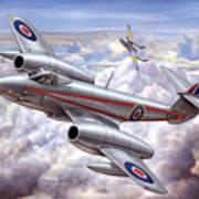 Gloster Meteor Art Print
