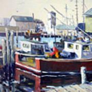 Gloucester Harbor And The Birdseye Tower Art Print