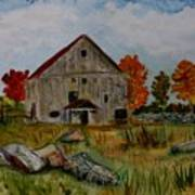Glover Barn In Autumn Art Print