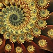 Glowing Amber Art Print