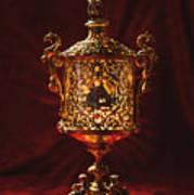 Glowing Antique Lantern Art Print