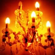 Glowing Chandelier Art Print
