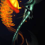 Glowing Depths Art Print