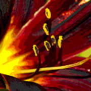 Glowing Flower Power Art Print