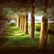 Glowing Forest Art Print