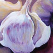 Glowing Garlic Art Print
