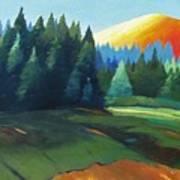 Glowing Hill Art Print