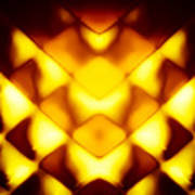 Glowing Honeycomb Art Print