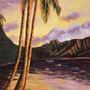 Glowing Kualoa Diptych 1 Of 2 Art Print
