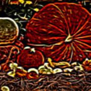 Glowing Pumpkins Art Print