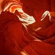 Glowing Sandstone Ledges Art Print