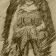 Glum Gillian Art Print