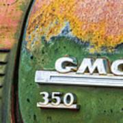 Gmc 350 Tag Art Print