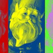 Gnomes In Crazy Color Art Print