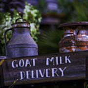 Goat Milk Delivery Art Print