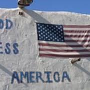 God Bless America Flag Restaurant Chandler Arizona 2005 Art Print