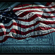 God Country Notre Dame American Flag Art Print