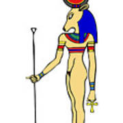 God Of Ancient Egypt - Hathor Art Print