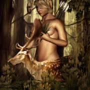 Goddess Artemis Art Print by Lourry Legarde