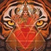 Goddess Durga Print by Sue Halstenberg