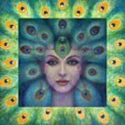 Goddess Isis Visions Art Print by Sue Halstenberg
