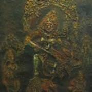 Goddess Kali Killing Demon Art Print