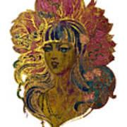 Goddess Lotus Art Print