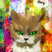 Goddess Santia As A Cat 687 Art Print