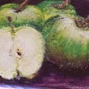 Gods Little Green Apples Art Print